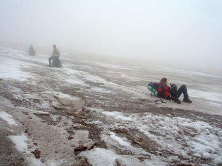 Перекур на леднике